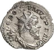 Antoninian, Köln, 261. Rv. LAETITIA AVG Galeere n. l. fahrend. Aus der kommenden Auktion Jacquier (16.9.16), 512. Fast vorzüglich. Taxe: 100 Euro.