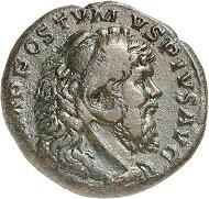 Medaillon, Köln, Ende 267 / Anfang 268. Rv. HERCVLI IN-VICTO Hercules n. r., den kretischen Stier bändigend. Aus der kommenden Auktion Jacquier (16.9.16), 571. Fast vorzüglich. Taxe: 10.000 Euro.