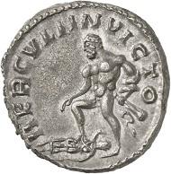 Antoninian, Köln, Anfang 268. Rv. HERCVLI INVICTO Hercules, zu seinen Füßen Amazonenkönigin Hippolyte. Aus der kommenden Auktion Jacquier (16.9.16), 585. Vorzüglich. Taxe: 4.000 Euro.