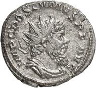 Antoninian, Köln, 267. Rv. VIRTVTI AV-GVSTI Hercules n. r. Aus der kommenden Auktion Jacquier (16.9.16), 567. Vorzüglich. Taxe: 400 Euro.