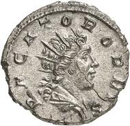 Antoninian, Trier, Anfang 269. Rv. PACATOR ORBIS Sol n. r. Aus der kommenden Auktion Jacquier (16.9.16), 609. Vorzüglich. Taxe: 500 Euro.