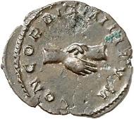 Marius. Antoninian, Trier. Aus der kommenden Auktion Jacquier (16.9.16), 704. Fast vorzüglich. Taxe: 800 Euro.