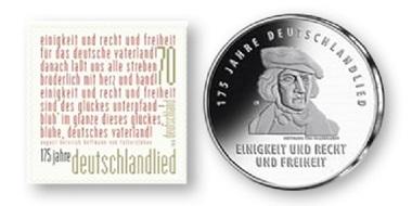 Sonderbriefmarke und 20-Euro-Gedenkmünze