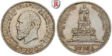 Russland. Nikolaus II. Rubel 1912, St. Petersburg. Fast vorzüglich. 9.000 Euro.