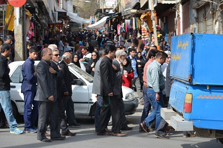 Procession in honour of Fatima Masumeh. Photo: Sigrid Hodel.