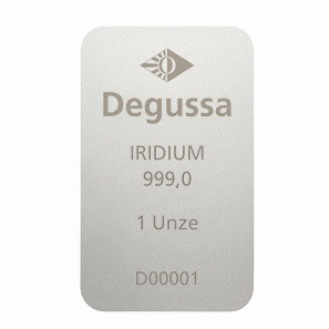 1 oz Degussa iridium and ruthenium bars.