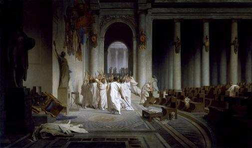 Caesar's Death, painting by Jean-Léon Gérôme, 1867.