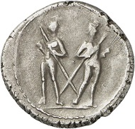 Denarius of L. Servius Rufus, Rome, 43 BC. With portrait of Brutus. Cr. 515/2. From Künker Auction 280 (2016), 393. Estimate: 4,000 euros.