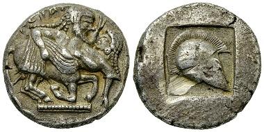 Thrako-makedonische Stämme, Letaioi, AR Stater, ca. 500-480 v. Chr.