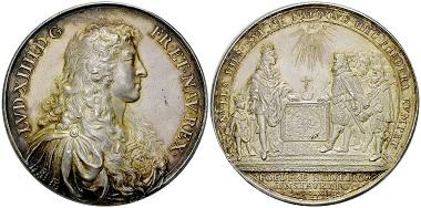 Frankreich-Schweiz, AR Bündnismedaille 1663.