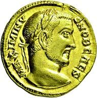 Los 2619: Maximinus II. Daia. 309-313 n. Chr. Aureus. Taxe: 25.000 Euro.