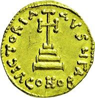 Los 2678: Byzanz. Leontius. Solidus. 695-698 n. Chr. Stempelglanz. Taxe: 6.000 Euro.