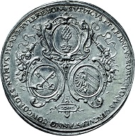 Los 3018: Augsburg. Medaille 1624 auf die Münzkonvention des Schwäbischen, Fränkischen und Bayerischen Kreises. Vorzüglich bis fast Stempelglanz. Taxe: 2.750 Euro.