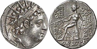 ANTIOCHOS VI. Drachme. Ex Gorny & Mosch 160, n. 1639. 4,05 g.