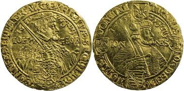 Los 715: Sachsen, Johann Georg I., 1615-1656, 4 Dukaten 1630, Dresden. Fr. 2698, RR, kl. Hsp., min. Fassungsspuren, sehr schön. Taxe 3.000,- Euro.