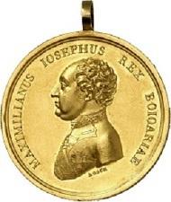 Für Sanitäts-Verdienste während der Befreiungskriege: Bayerisches Goldenes Militär-Sanitäts-Ehrenzeichen, 1. Ausführung (1812-1814), Gold. RRR I-II. Taxe: 10.000,- Euro.