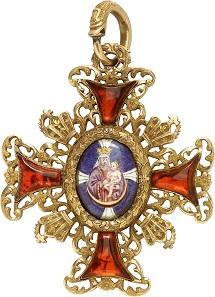 Zierte einst die Brust eines hohen Prälaten: Kapitelkreuz des katholischen Domkapitels des Bistums Speyer, 2. Modell (-1822), Gold. RRRR II. Taxe: 3.000,- Euro.