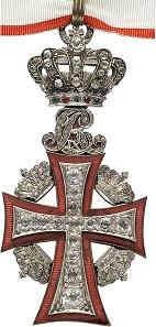 Königliches Trage-Exemplar: Juweliers-Zweitanfertigung des Großkommandeur-Kreuzes