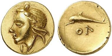 Lot 59: OLBIA (Sarmatia). Quarter stater, ca. 360-320. Extremely fine. Estimate: 6,000,- euros.