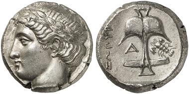 Lot 64: APOLLONIA PONTICA (Thrace). Tetradrachm, 400-350. Extremely fine. Estimate: 15,000,- euros.