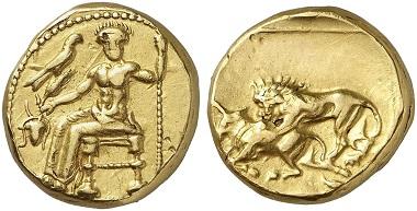 Lot 270: BABYLON. Mazaeus, 331-328. Double daric. Very fine. Estimate: 15,000,- euros.