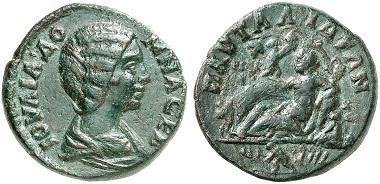 Lot 1789: PAUTALIA (Thrace). Iulia Domna. AE. Rv: the wealth of the city of Pautalia. Good very fine. Estimate: 400,- euros.