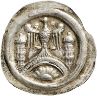 Lot 4003: ARNSTEIN. Walter II, 1135-1176. Bracteate. Very rare. Very fine to extremely fine. Estimate: 600,- euros.