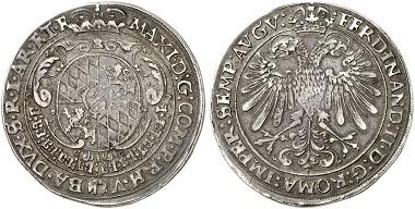 Lot 4189: BAVARIA. Maximilian I, 1598-1651. Taler 1627, Heidelberg. Extremely rare. Very fine. Estimate: 5,500,- euros.