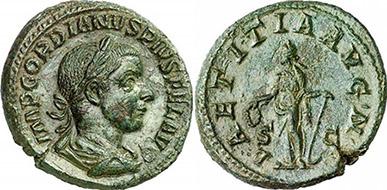 GORDIAN III. As. Ex Gorny & Mosch 186, n. 2209. 11,81 g.