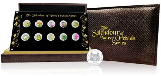 The Splendour of Native Orchids Series Coin Set.