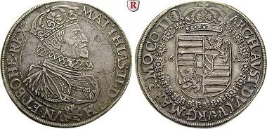 Römisch Deutsches Reich, Matthias II., Reichstaler 1612.