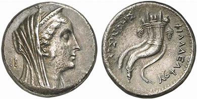 PTOLEMAIOS II. Dekadrachme. Ex Kuenker 168 n. 7448. 34,40 g.