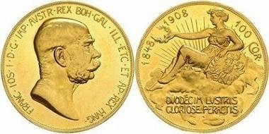 Österreich, Franz Joseph, 100 Kronen 1908.