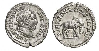 CARACALLA. Denar. Ex Helios 2 n. 338. 3,16 g.