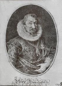 Philipp Hainhofer, copperplate engraving by Lucas Kilian.