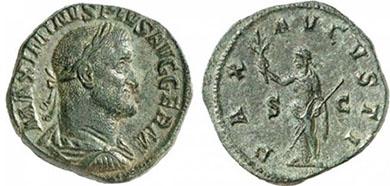 MAXIMINUS THRAX. Sesterz. Ex Helios 5 n. 361. 19,53 g.