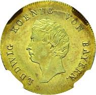 Lot 3556: Würzburg. Ludwig I. of Bavaria. 1825-1848. New years gold Guilder. Estimate: 6,500 EUR.