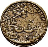 Lot 4: Bronze medal from 1574, very fine+, RRR (rev). CHF 250.