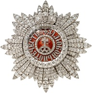 Lot 1012: Orders. Breast star of the St. Catherine Order, from the Fabergé firm in St Petersburg. CHF 75,000.