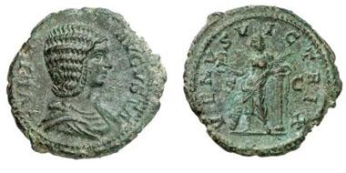 IULIA DOMNA. Dupondius. Ex Helios 4 n. 546. 11,31 g.