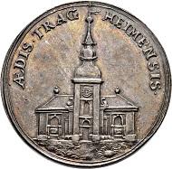 Lot 2157: Brandenburg-Preussen. Silbermedaille 1708. Auf den Wiederaufbau der Tragheimer Kirche. Vorzüglich-FDC. CHF 2.500.