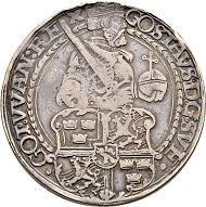 Lot 3239: Sweden. Gustav Vasa. 2 Daler 1544, Svartsjö. Extremely rare. Very fine. CHF 10,000.