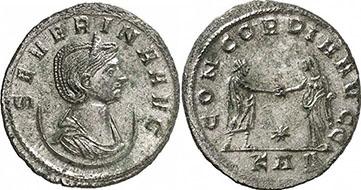 SEVERINA. Antoninianus. Ex Gorny & Mosch 191 n. 2347. 3,47 g.