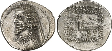 Phraates III., 70-57. Drachme, Susa. Aus Auktion Gorny & Mosch 204 (2012), 1628.