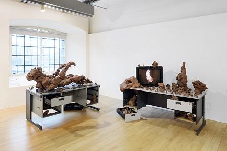L-R Sahej Raha's UNDERGOD 2016 and Saras 2012. © Tate Liverpool, Roger Sinek.