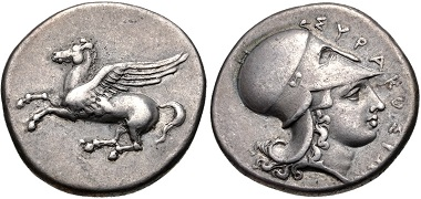 Lot 28: Syracuse. Timoleon and the Third Democracy, AR Stater, 344-317 BC. HGC 2, 1400. VF. From the Dr. Lawrence D. Sporty Collection. Ex Waddell 99 (2004), lot 25. Estimate: $500.