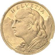 Nr. 1471: SCHWEIZ / Eidgenossenschaft. 100 Franken 1925. NGC MS64+. Fast Stempelglanz. Taxe: 18.000 Euro.