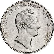 Nr. 2002: BADEN. Karl Leopold Friedrich, 1830-1852. Kronentaler 1832