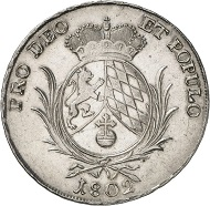 Nr. 2237: BAYERN. Maximilian IV. (I.) Joseph, 1799-1825. Konventionstaler 1802 mit MAXIM.JOSEPH. Äußerst selten. Vorzüglich. Taxe: 4.500 Euro.