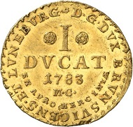 No. 1111: BRUNSWICK-WOLFENBÜTTEL. Charles William Ferdinand, 1780-1806. Ducat 1783, Brunswick.